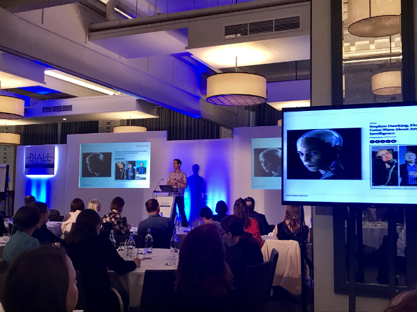 Human or machine – why not human AND machine? Nick West at #BIALL2017