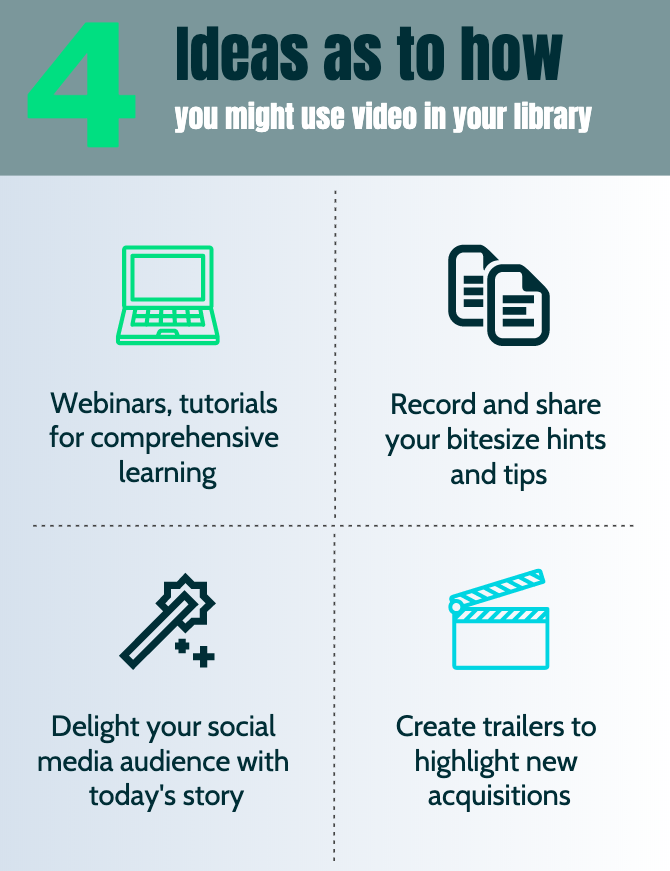 4 ideas as to how you might use video in your library