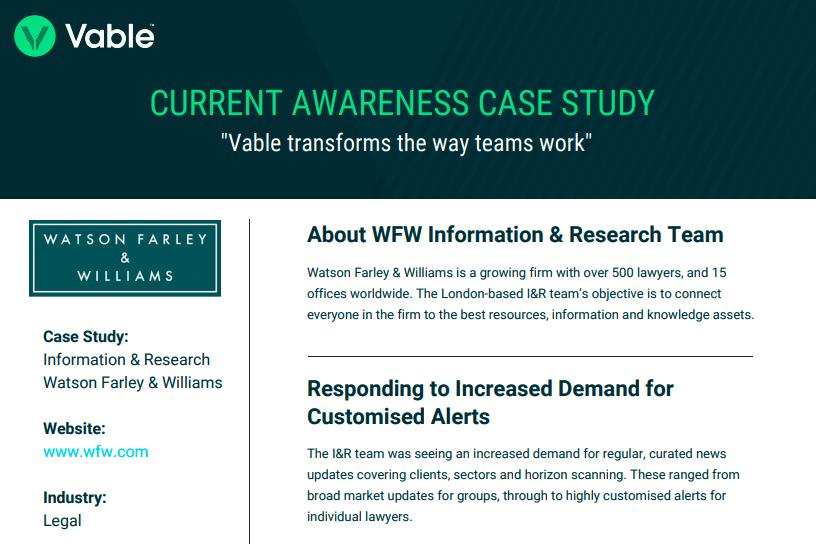 WFW case study