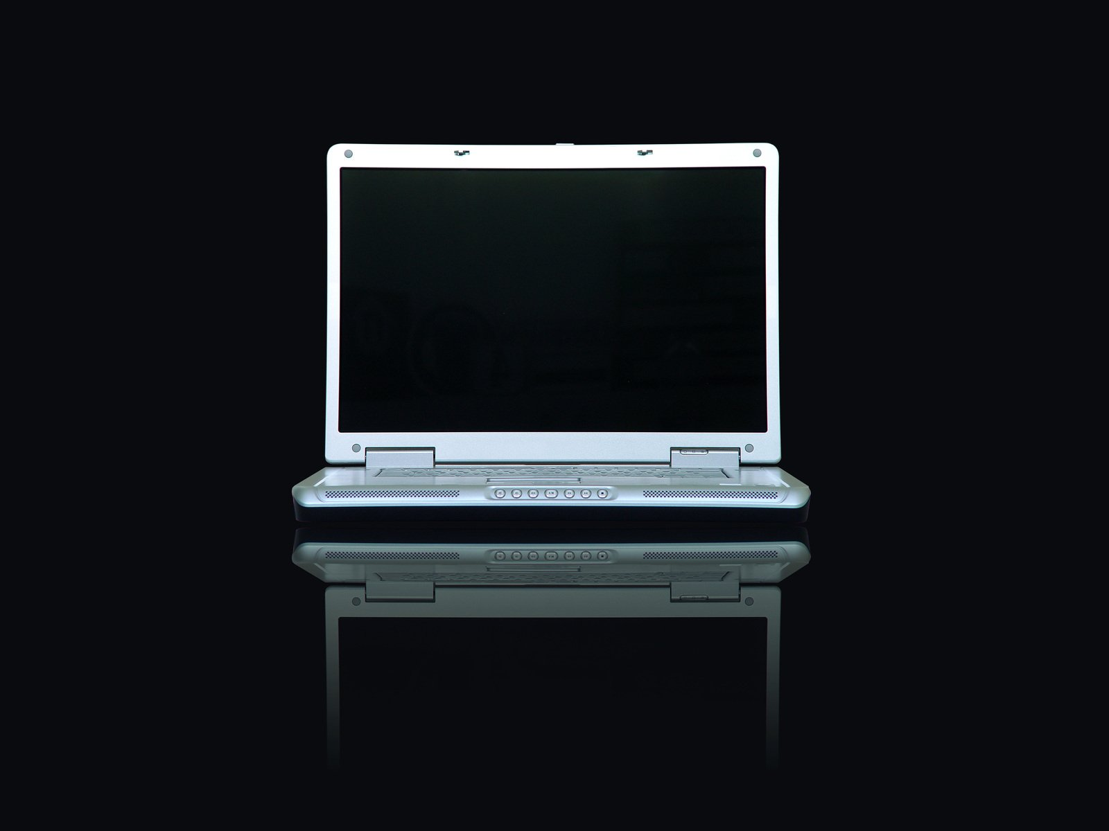 laptop with a black screen