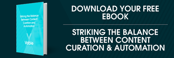 Ebook download: Striking the Balance Between Content Curation and Automation